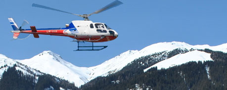 Helicopter transfer service Davos